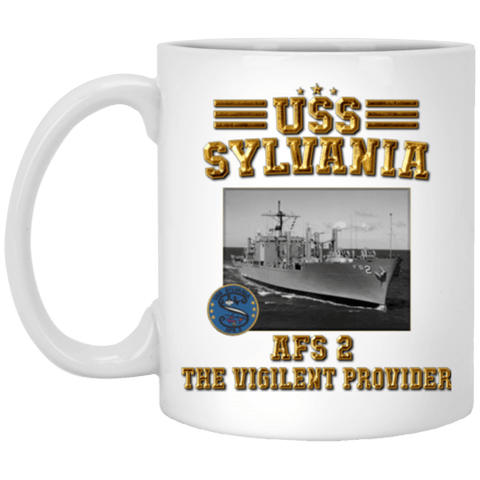 USS SYLVANIA AFS 2 Coffee Mugs