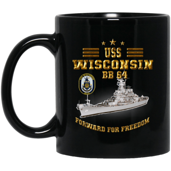 USS Wisconsin BB 64 Coffee Mugs