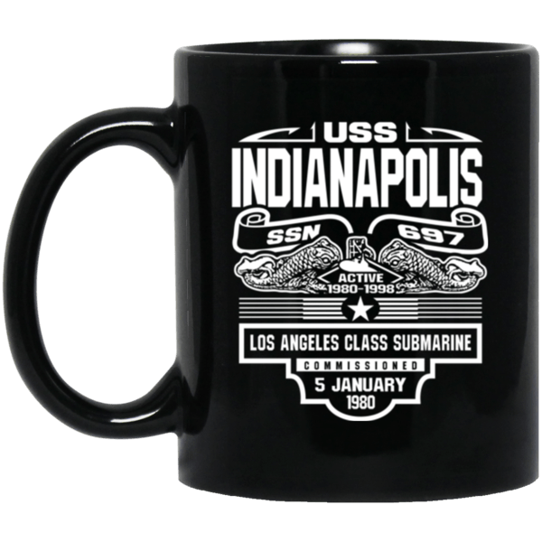 USS INDIANAPOLIS SSN-697 Coffee Mugs