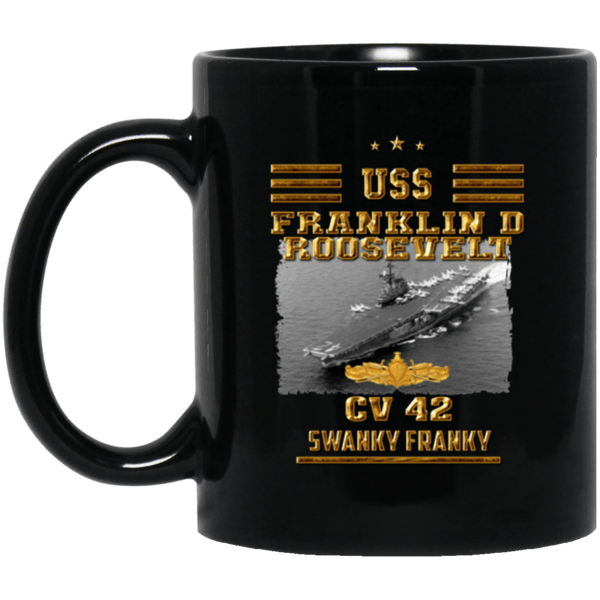 USS FRANKLIN ROOSEVELT CV 42 Coffee Mugs