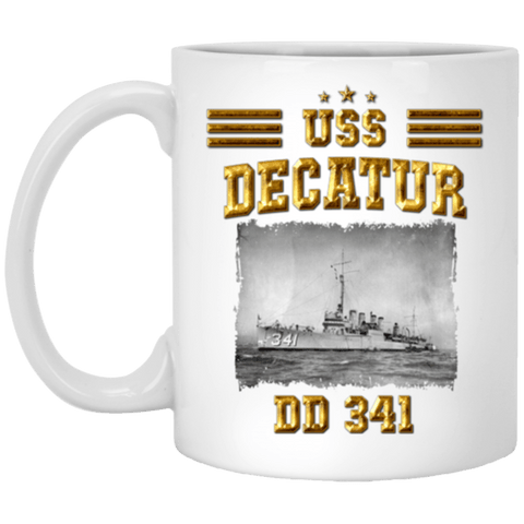 USS Decatur DD 341 Coffee Mugs