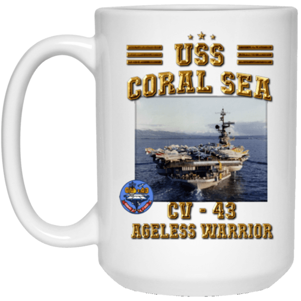 USS Coral Sea CV 43  Coffee Mugs