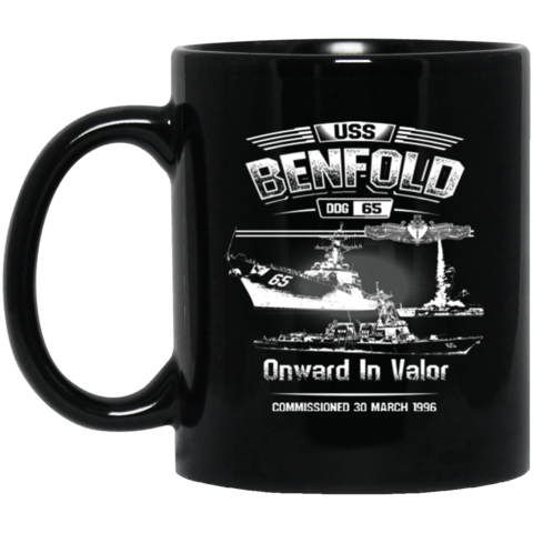 USS BENFOLD DDG-65 ONWARD IN VALOR Coffee Mugs