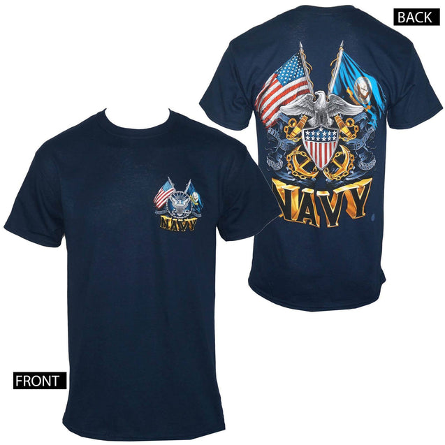Us Navy Men's Navy Blue T-shirt