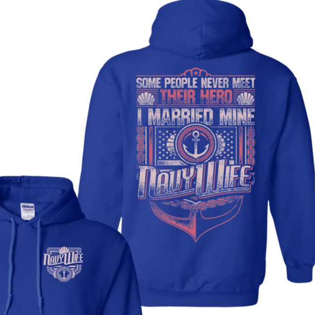 Navy Wife T Shirts and Hoodies