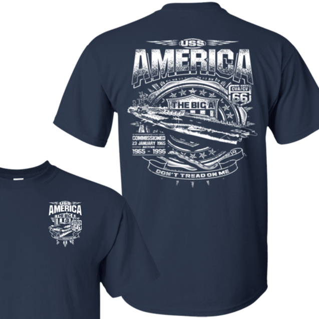 USS AMERICA CVA/CV-66 T Shirts and Hoodies
