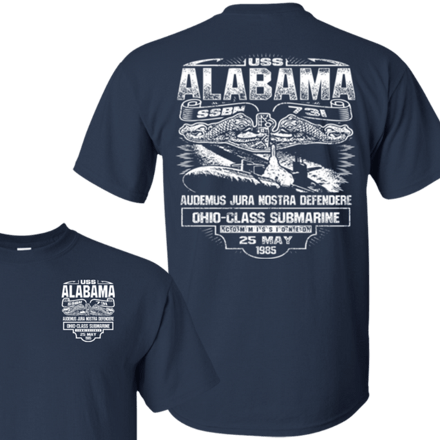 USS Alabama SSBN 731 T Shirts and Hoodies