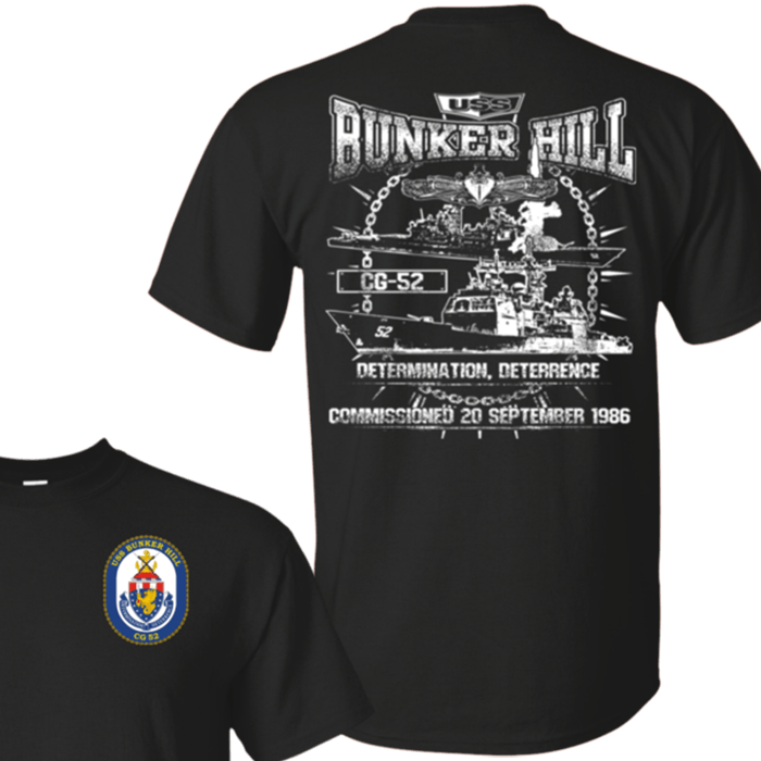 USS Bunker Hill CG 52 T Shirts and Hoodies