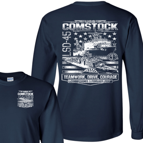 Image of USS COMSTOCK LSD 45 T Shirts and Hoodies