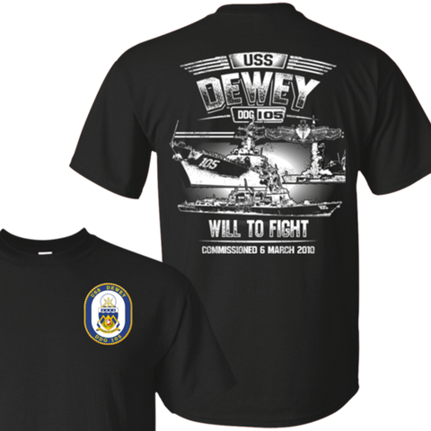 Image of USS Dewey DDG 105 T Shirts and Hoodies