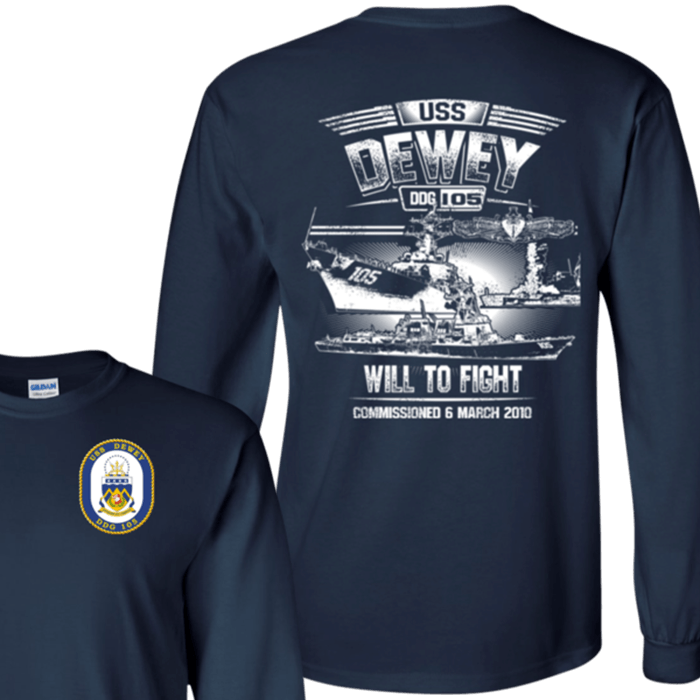 USS Dewey DDG 105 T Shirts and Hoodies
