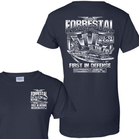 USS FORRESTAL CVA CV 59 T Shirts and Hoodies