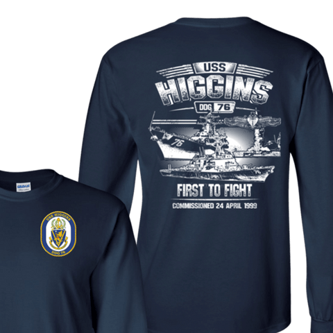 USS Higgins DDG 76 T Shirts and Hoodies