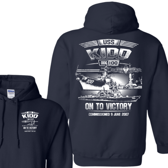 USS Kidd DDG 100 T Shirts and Hoodies
