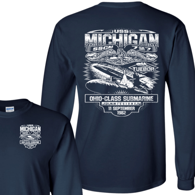 USS Michigan SSGN 727 T Shirts and Hoodies