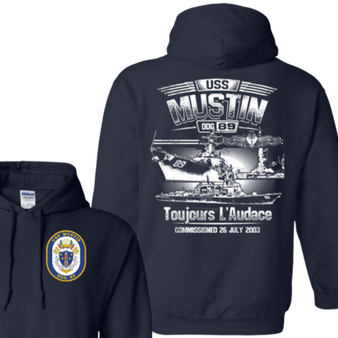 USS Mustin DDG 89 T Shirts and Hoodies