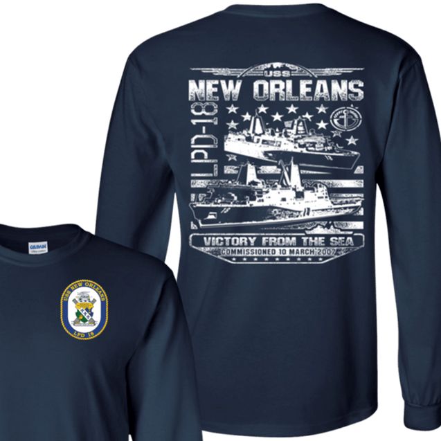 USS NEW ORLEANS LPD 18 T Shirts and Hoodies