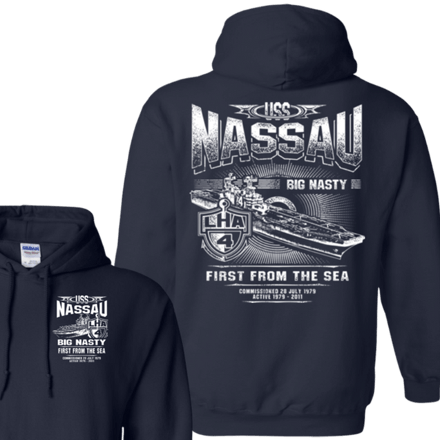 USS Nassau LHA 4 T Shirts and Hoodies