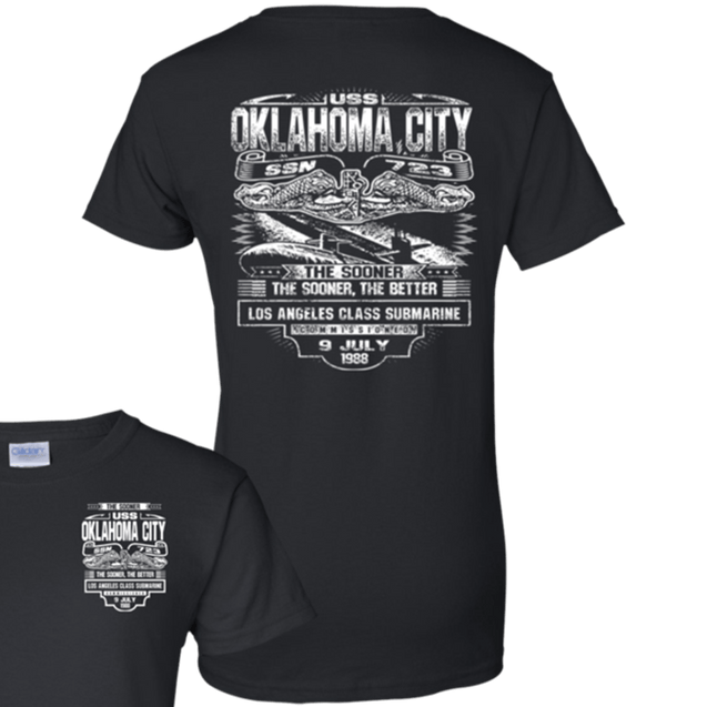 USS OKLAHOMA CITY SSN 723 T Shirts and Hoodies