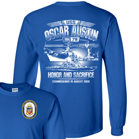 Image of USS OSCAR AUSTIN DDG 79 T Shirts and Hoodies