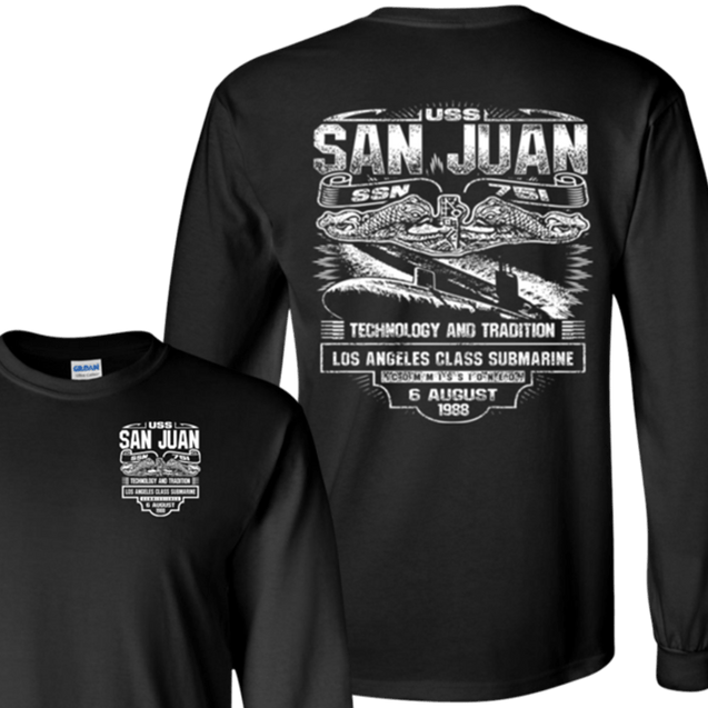 USS SAN JUAN SSN-751 T Shirts and Hoodies