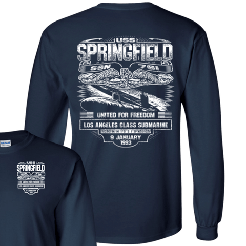 USS SPRINGFIELD SSN-761  T Shirts and Hoodies