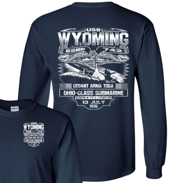 USS WYOMING SSBN 742 T Shirts and Hoodies