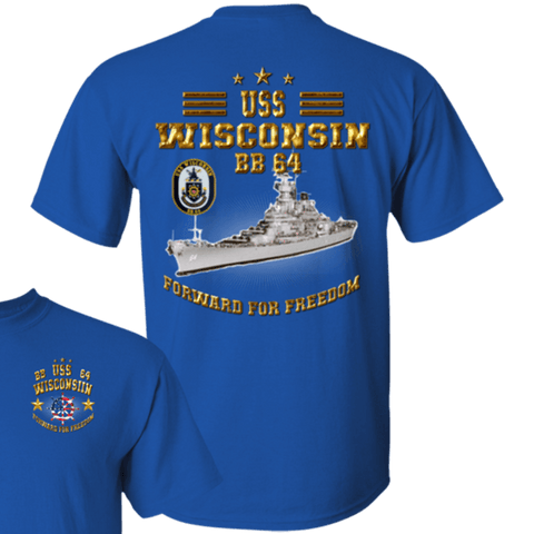 Image of USS Wisconsin BB 64 T Shirts and Hoodies