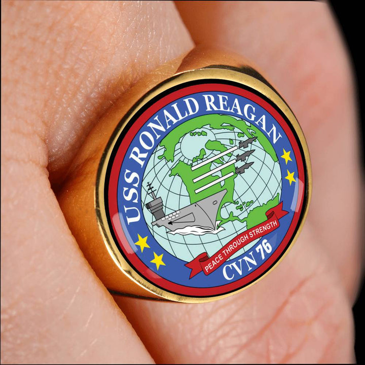USS Ronald Reagan CVN 76 Rings Made For You