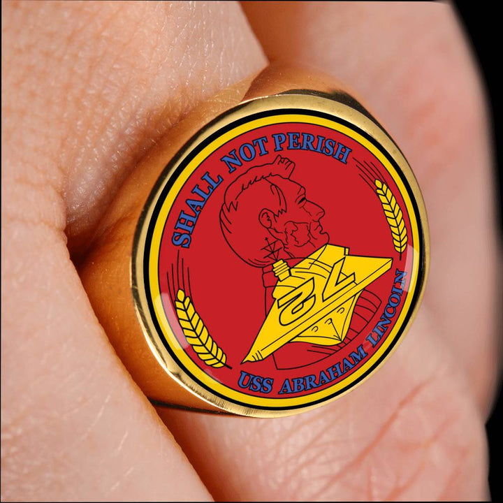 USS Abraham Lincoln CVN 72 Rings Made For You