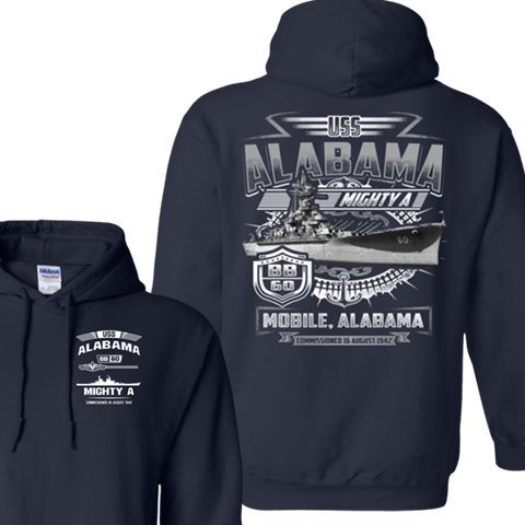 USS ALABAMA BB 6O TSHIRT AND HOODIES