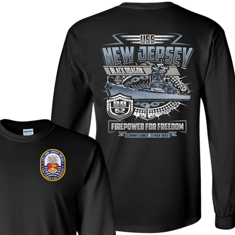 USS NEW JERSEY BB 62 T SHIRTS AND HOODIE