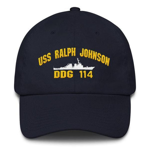 Image of USS RALPH JOHNSON DDG 114 Baseball Cap