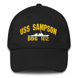 USS SAMPSON DDG 102 Baseball Cap