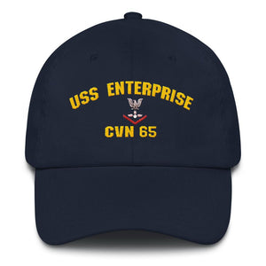USS Enterprise CVN 65 AO-3 Dad hat