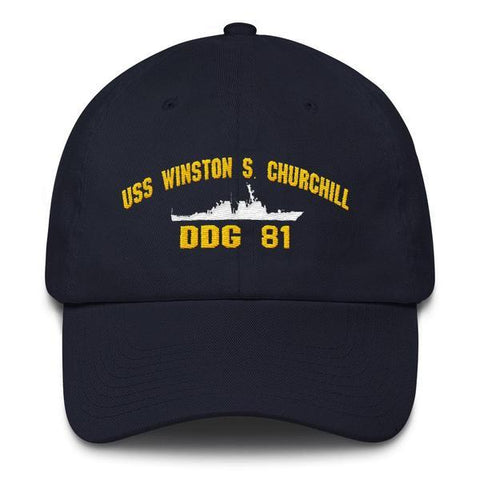 Image of USS WINSTON S. CHURCHILL DDG 81 Baseball Cap