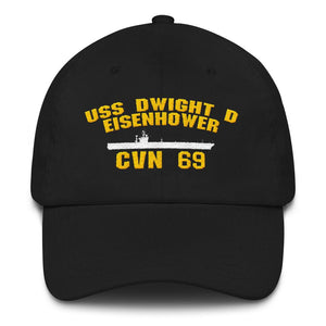 USS Dwight D Eisenhower CVN 69 Baseball Cap