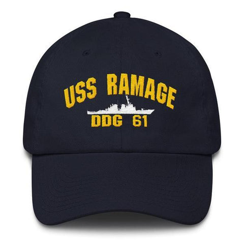 Image of USS RAMAGE DDG 61 Baseball Cap