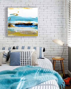 Coastal California Art for Bedroom on Wall