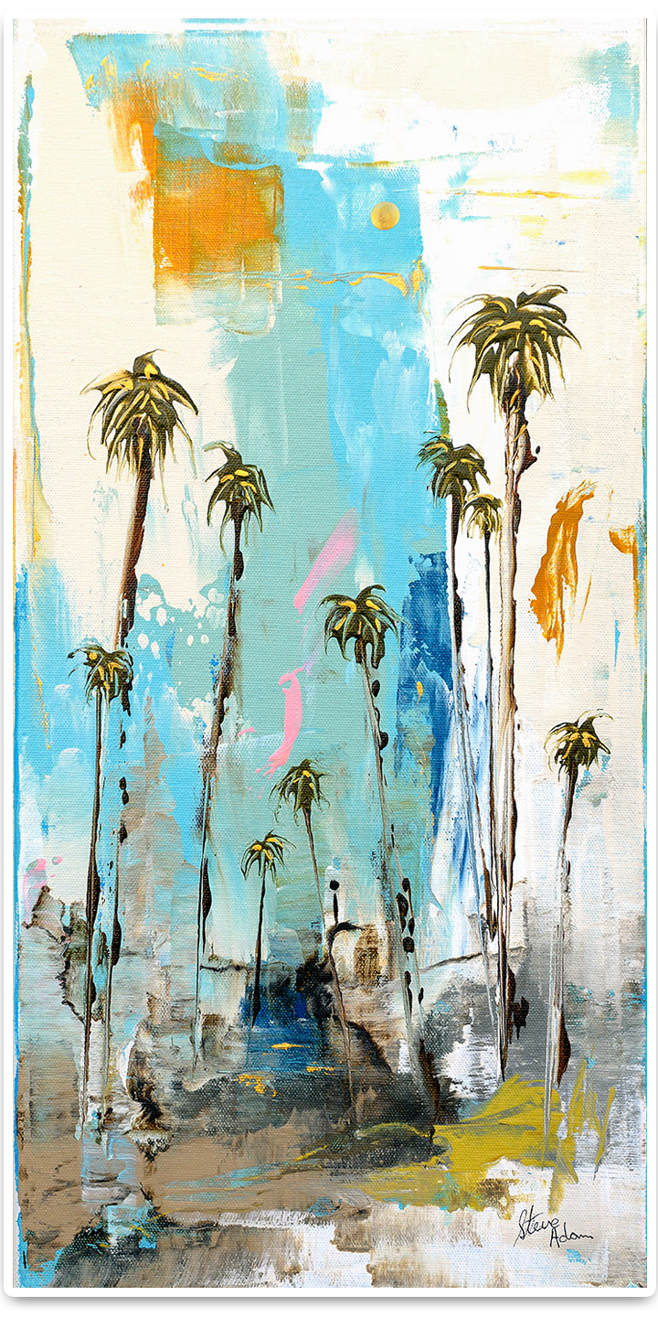 Lanky Abstract Palms Beckon - Steve Adams