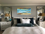 Load image into Gallery viewer, Large Bedroom with Steve Adam Coastal Modern Abstract Art on Wall