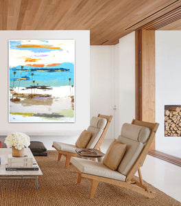 Steve Adams Painting in Modern Living Room