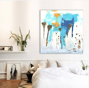Bedside Coastal Abstract Art