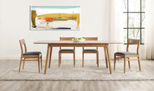 Coastal Modern Abstract Art in Open Dining Room