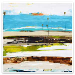 Palm Seascape Series - Modern Abstract