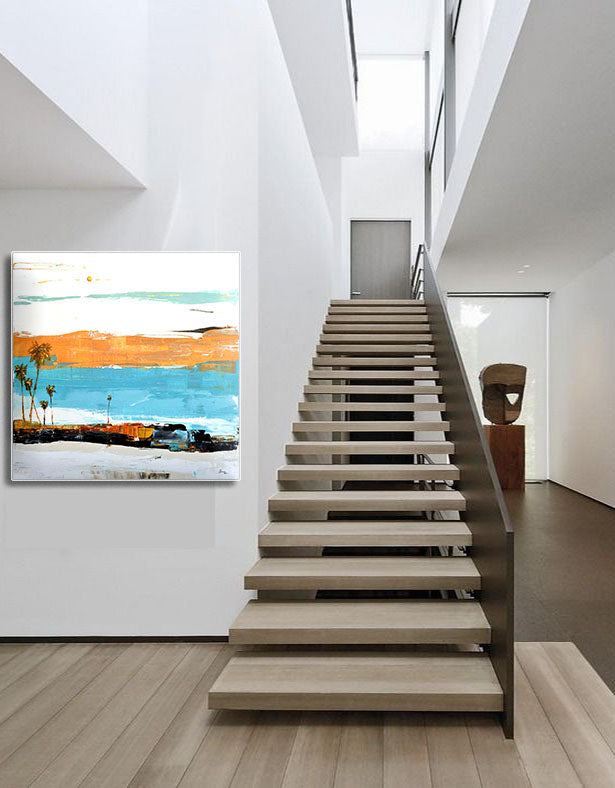 Modern Abstract Painting in Modern Interior