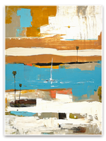 Load image into Gallery viewer, abstract sail boat art - Laguna Beach Artist