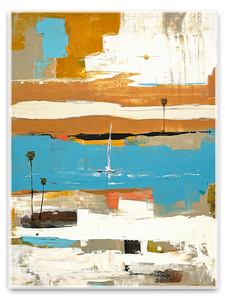 abstract sail boat art - Laguna Beach Artist