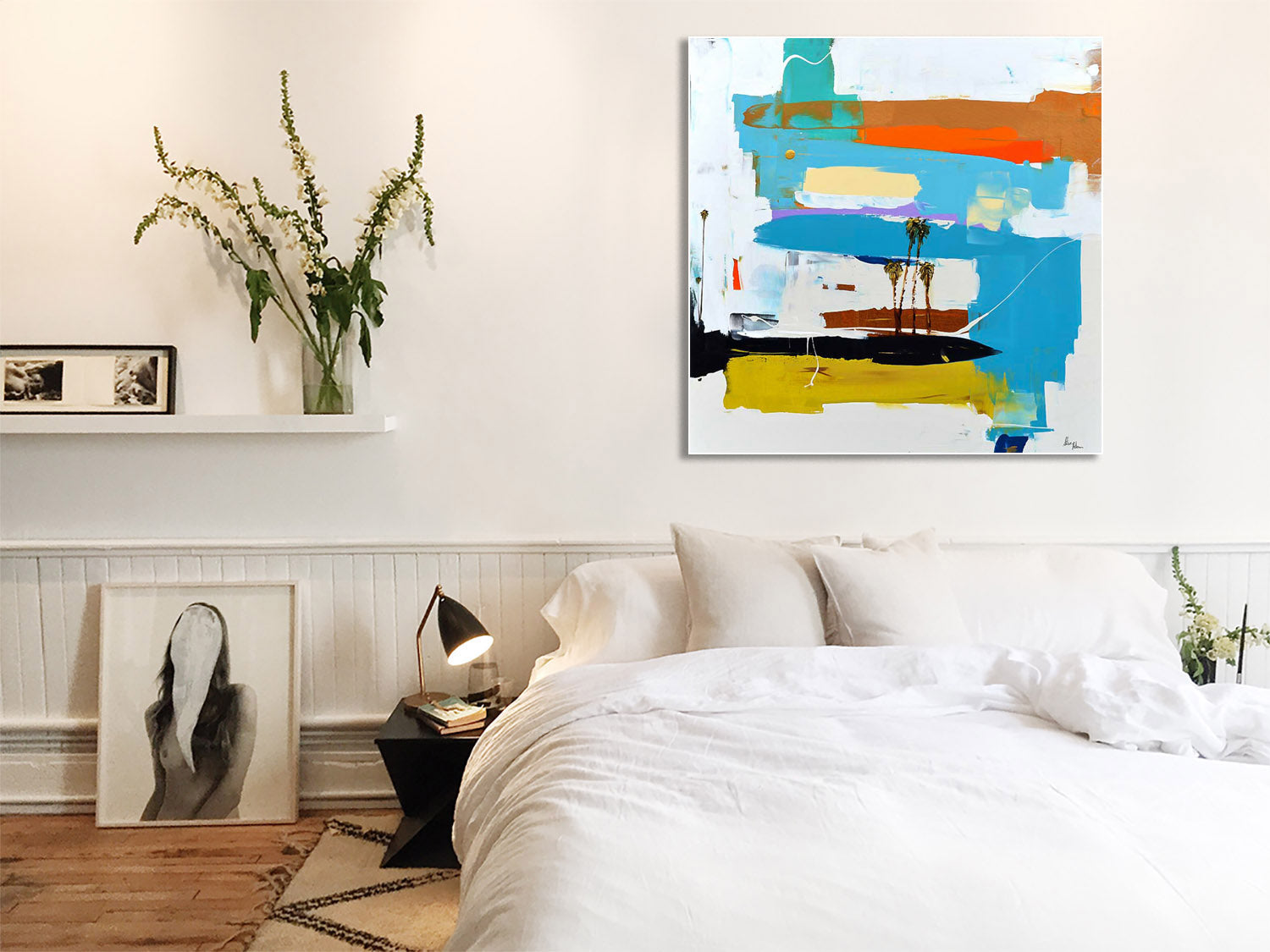 Vibrant Abstract Painting on Wall