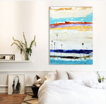 Load image into Gallery viewer, Colorful Abstract Art in Modern Bedroom